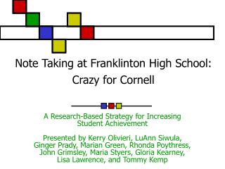 Note Taking at Franklinton High School: Crazy for Cornell