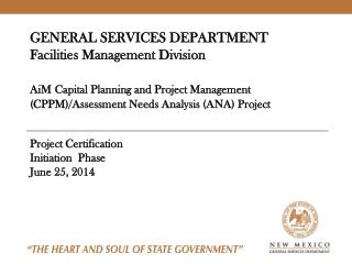 Project Certification Initiation   Phase June 25,  2014