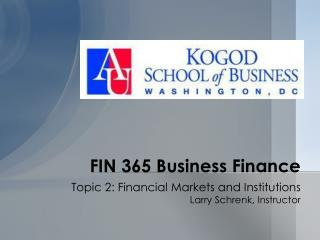FIN 365 Business Finance