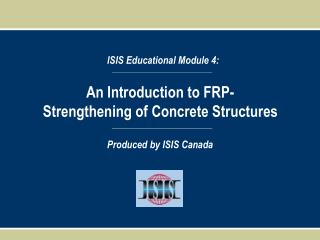 An Introduction to FRP-Strengthening of Concrete Structures