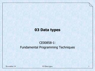 03 Data types