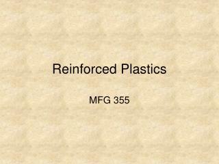 Reinforced Plastics
