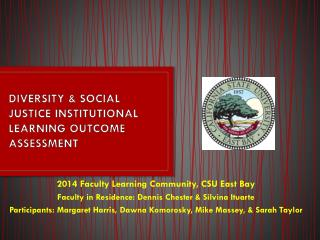 DIVERSITY & SOCIAL JUSTICE INSTITUTIONAL LEARNING OUTCOME ASSESSMENT