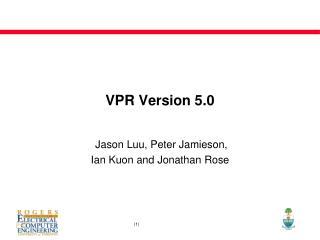 VPR Version 5.0