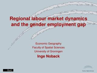 Regional labour market dynamics and the gender employment gap