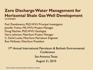17 th  Annual International Petroleum & Biofuels Environmental Conference San Antonio, Texas