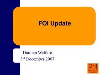FOI Update