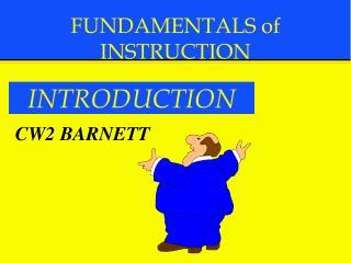 FUNDAMENTALS of INSTRUCTION