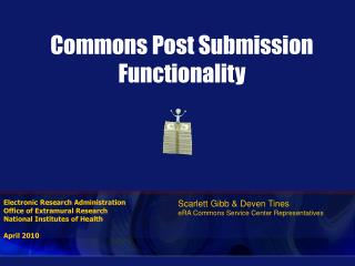 Commons Post Submission Functionality