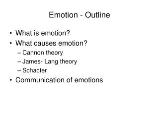 Emotion - Outline