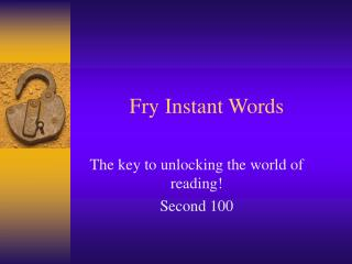 Fry Instant Words