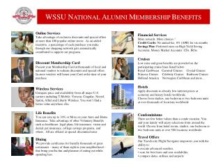 Member Benefits ppt