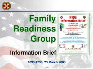Family Readiness Group Information Brief