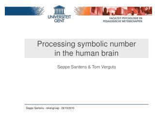 Processing symbolic number  in the human brain