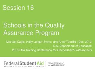 Schools in the Quality Assurance Program