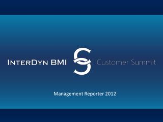 Management Reporter 2012