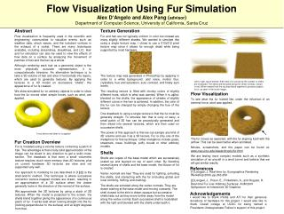 Flow Visualization Using Fur Simulation