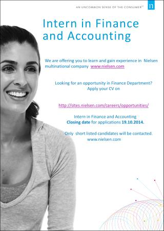 Intern in Finance and Accounting