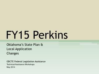 FY15 Perkins
