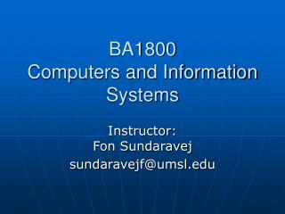 BA1800 Computers and Information Systems
