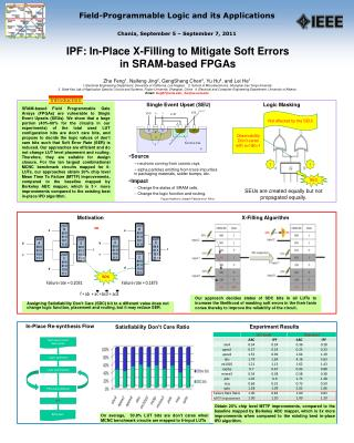 IPF: In-Place X-Filling to Mitigate Soft Errors  in SRAM-based FPGAs