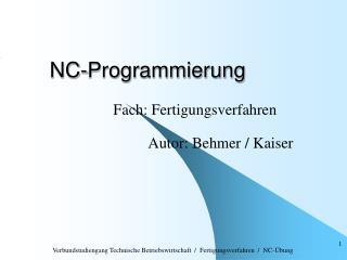 NC-Programmierung