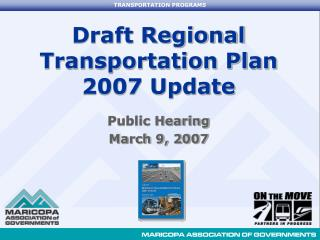 Draft Regional Transportation Plan 2007 Update