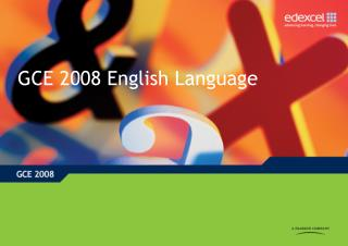 GCE 2008 English Language