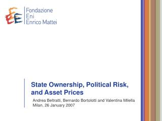 State Ownership, Political Risk, and Asset Prices