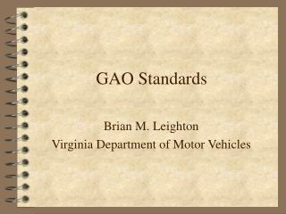 GAO Standards
