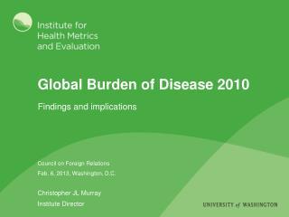 Global Burden of Disease 2010