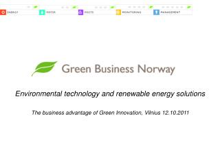 Environmental technology and renewable energy solutions