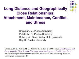 Chapman, M., Purdue University Pistole, M. C., Purdue University