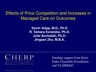 Effects of Price Competition and Increases in Managed Care on Outcomes