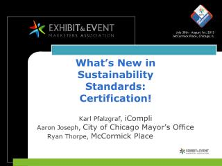 What's New in Sustainability Standards:  Certification!