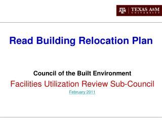 Read Building Relocation Plan