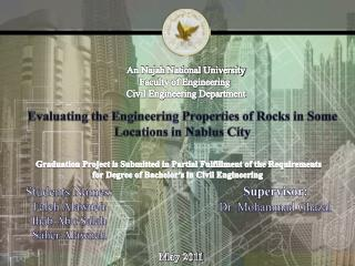 An Najah National University Faculty of Engineering  Civil Engineering Department