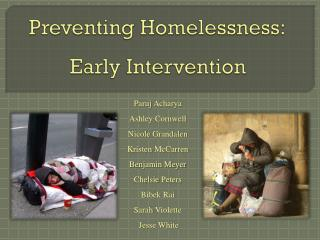 Preventing Homelessness: Early Intervention