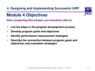 4. Designing and Implementing Successful GRP