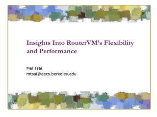 Insights Into RouterVM�s Flexibility and Performance