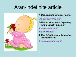 A/an-indefinite article