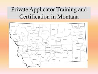 Private Applicator Training and Certification in Montana
