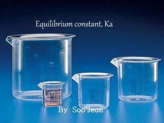 Equilibrium constant, Ka