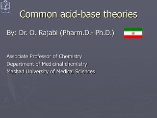 Common acid-base theories