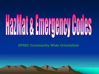 HazMat & Emergency Codes
