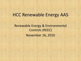 HCC Renewable Energy AAS