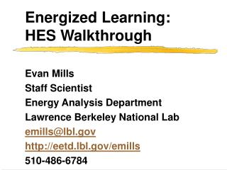 Energized Learning: HES Walkthrough