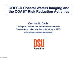 GOES-R Coastal Waters Imaging and the COAST Risk Reduction Activities