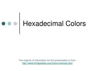 Hexadecimal Colors