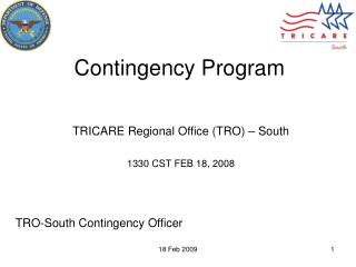 Contingency Program